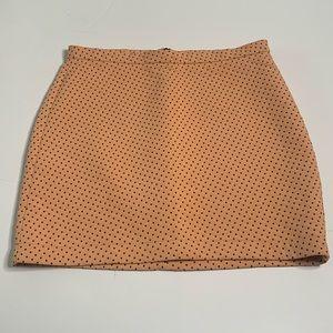 Zara Trafaluc Pink Polka Dot Knit Mini Skirt Small